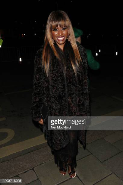 June Sarpong attends the Vogue x Tiffany Fashion Film after party for the EE British Academy Film Awards 2020 at Annabel's on February 02 2020 in...