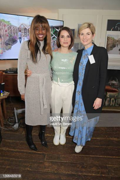 June Sarpong, Charlotte Riley and Jodie Whittaker attend a drinks reception at Soho House to celebrate the announcement of a brand-new childcare...