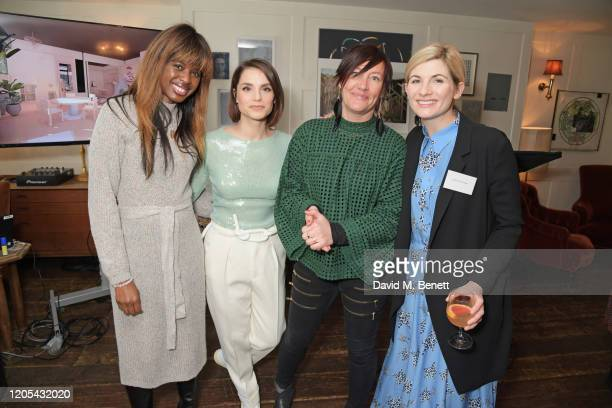 June Sarpong, Charlotte Riley, Time's Up Coordinator Pip Eldridge and Jodie Whittaker attend a drinks reception at Soho House to celebrate the...