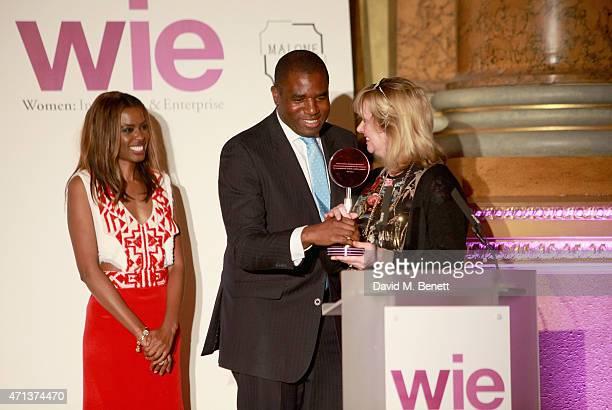 June Sarpong David Lammy and Jenny Holloway winner of the WIE Community Award at the LDNY show and WIE Award gala sponsored by Maserati at Goldsmith...