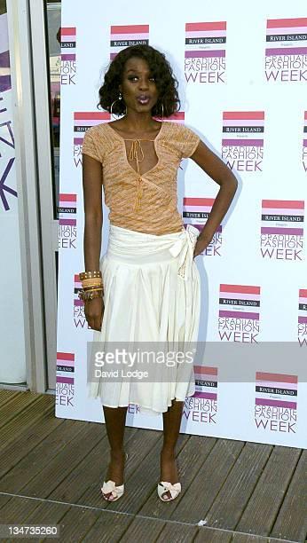 June Sarpong during Graduate Fashion Show June 8 2005 at Battersea Park in London Great Britain