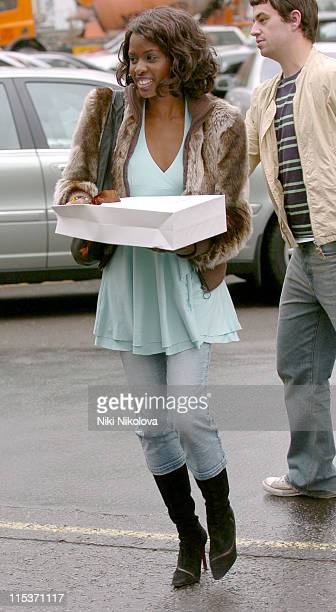 June Sarpong during June Sarpong Sighting at The Dorchester April 14 2005 at The Dorchester in London Great Britain