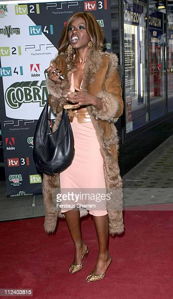 June Sarpong during The Cobra Vision Awards 2006 Inside Arrivals at Curzon Mayfair in London Great Britain