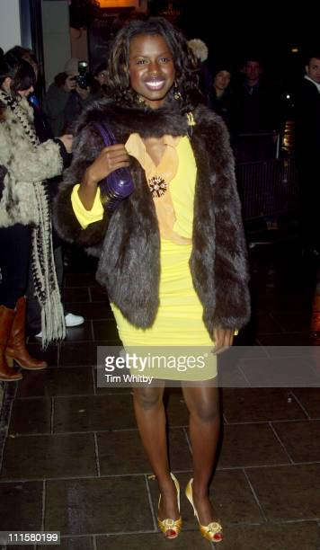 June Sarpong during The Shockwaves NME Awards 2005 Arrivals at Hammersmith Palais in London Great Britain