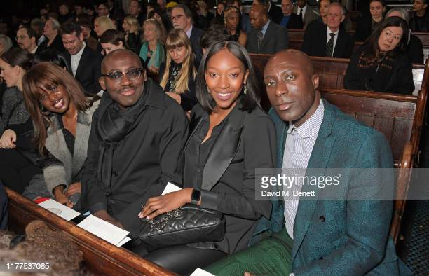 June Sarpong Edward Enninful Vanessa Kingori and Ozwald Boateng attend a memorial for Joe CaselyHayford at Union Chapel on October 22 2019 in London...