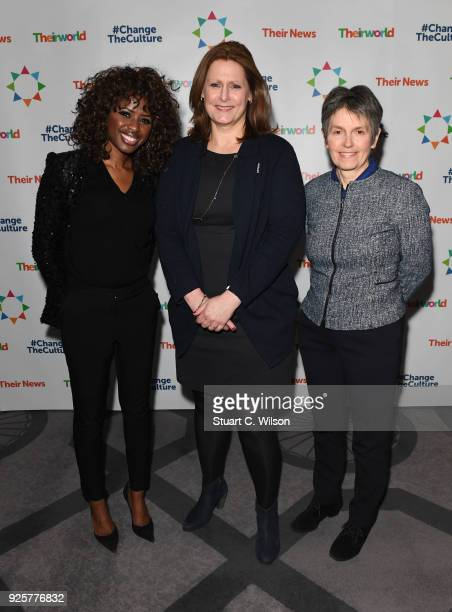 June Sarpong Sarah Brown and Cressida Dick attend Sarah Brown's Theirworld charity event held in London's Connaught Rooms ahead of International...