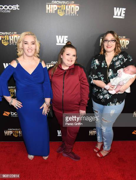 June Shannon Alana Thompson Lauryn 'Pumpkin' Shannon and Ella Grace Efird attend 'Growing Up Hip Hop Atlanta' season 2 premiere party at Woodruff...