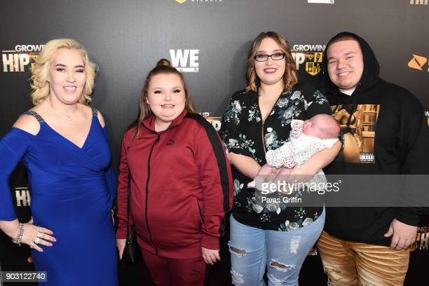 June Shannon Alana Thompson Lauryn 'Pumpkin' Shannon Ella Grace Efird and Joshua Brandon Efird attend Growing Up Hip Hop Atlanta season 2 premiere...
