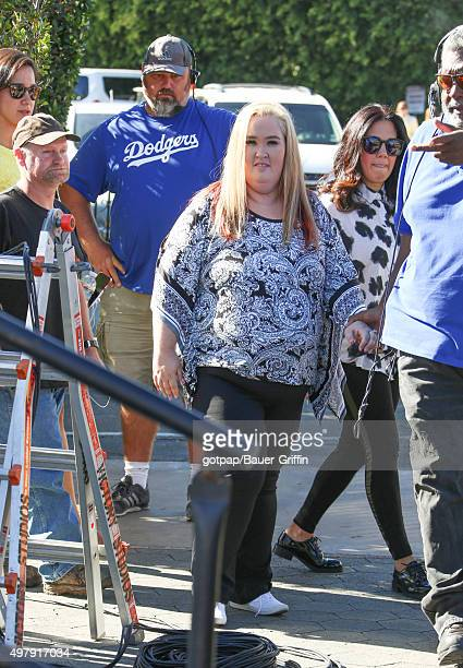 June Shannon and Mike Thompson are seen on November 19, 2015 in Los Angeles, California.