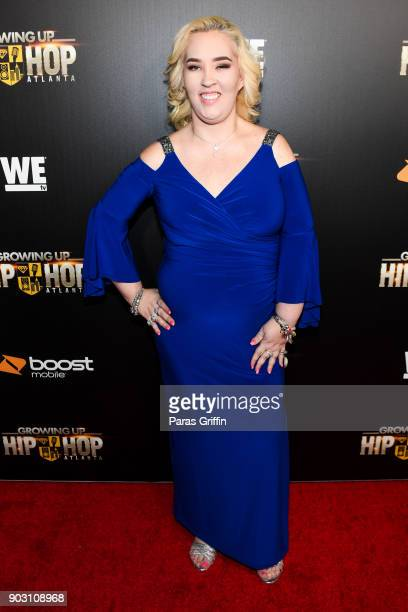 June Shannon attends Growing Up Hip Hop Atlanta season 2 premiere party at Woodruff Arts Center on January 9 2018 in Atlanta Georgia