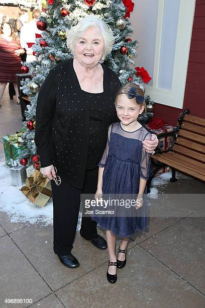 June Squibb and Blake Baumgartner attend the Love The Coopers Holiday Luncheon Benefiting The LA Regional Food Bank at The Grove on November 12 2015...