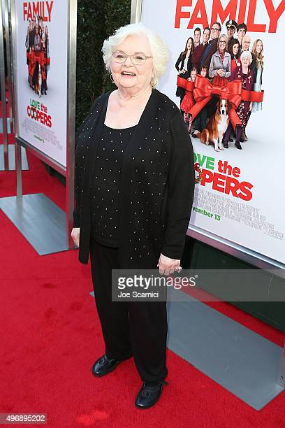 June Squibb attends the Love The Coopers Holiday Luncheon Benefiting The LA Regional Food Bank at The Grove on November 12 2015 in Los Angeles...