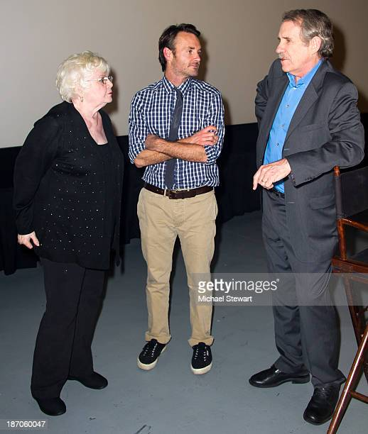 June Squibb Will Forte and Peter Travers attend the New York Film Critics Series Screening of Nebraska at AMC Empire 25 theater on November 5 2013 in...