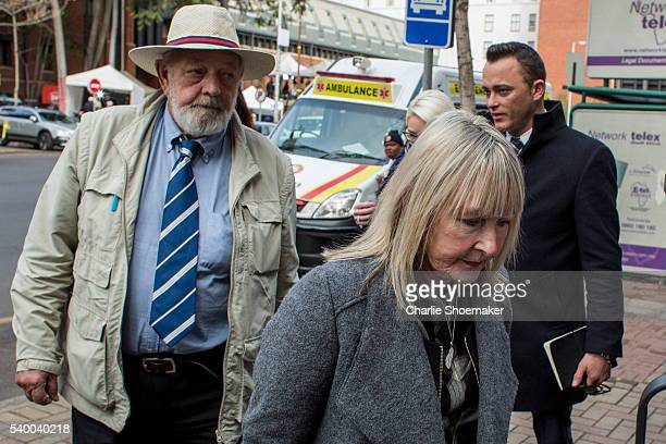 June Steenkamp and Barry Steenkamp arrive at North Gauteng High Court on June 14, 2016 in Pretoria, South Africa. Having had his conviction upgraded...