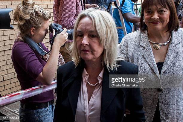 June Steenkamp arrives atNorth Gauteng High Court on October 13, 2014 in Pretoria, South Africa. Pistorius will be sentenced having been found...