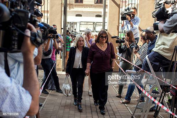 June Steenkamp arrives atNorth Gauteng High Court on October 14, 2014 in Pretoria, South Africa. Pistorius will be sentenced having been found...