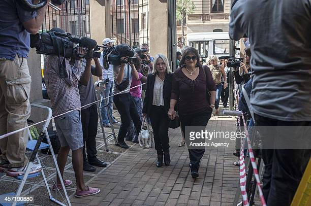 June Steenkamp mother of Reeva Steenkamp, killed by South Africas internationally-recognized Paralympian Oscar Pistorius , arrives to Pretoria High...