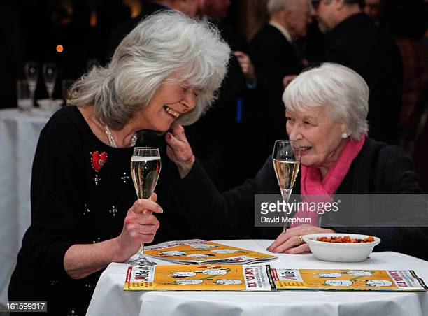 June Whitfield and Jilly Cooper attends the Oldie of the Year Awards at Simpsons in the Strand on February 12 2013 in London England