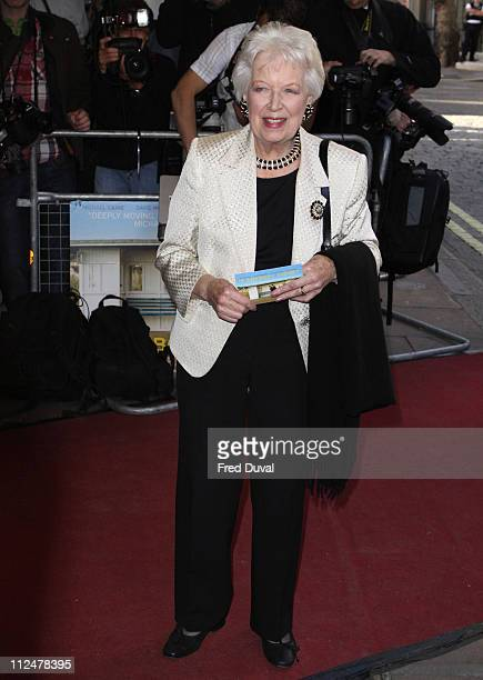 June Whitfield arrives at the London film Premiere of 'Is Anybody There? at Curzon Mayfair, 38 Curzon Street, London W1, on April 29, 2009 in London.