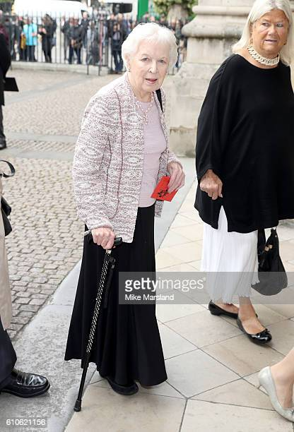 June Whitfield attends a memorial service for the late Sir Terry Wogan at Westminster Abbey on September 27 2016 in London England