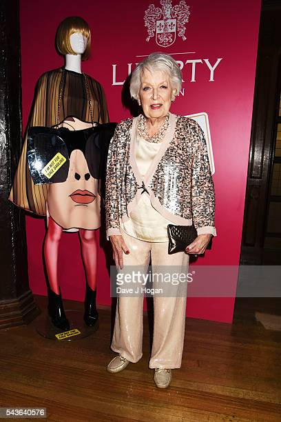 """June Whitfield attends the after party of the world premiere of """"Absolutely Fabulous: The Movie"""" at Liberty on June 29, 2016 in London, England."""