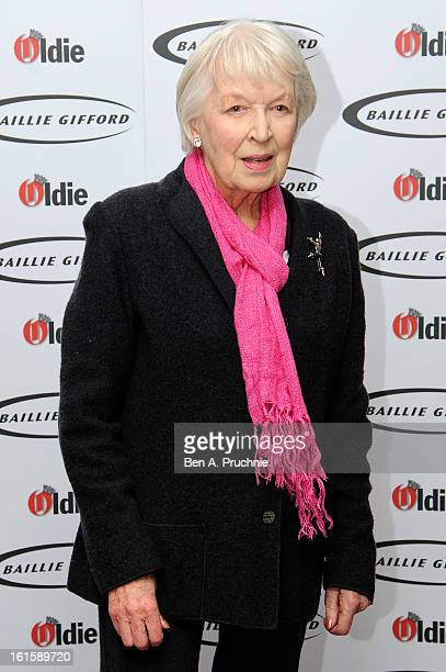 June Whitfield attends the Oldie of the Year Awards at Simpsons in the Strand on February 12 2013 in London England
