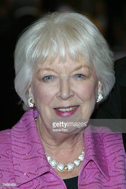 June Whitfield attends the UK gala premiere of 'Calendar Girls' at the Odeon Leicester Square on September 2 2003 in London England