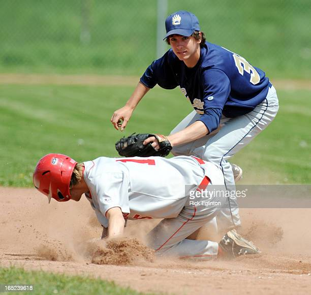 June0309RE1156732Prentice Cup Sudden Death High School Baseball playoffs at Aurora St Edmund Campion Bears from Brampton and St Andrews Saints from...