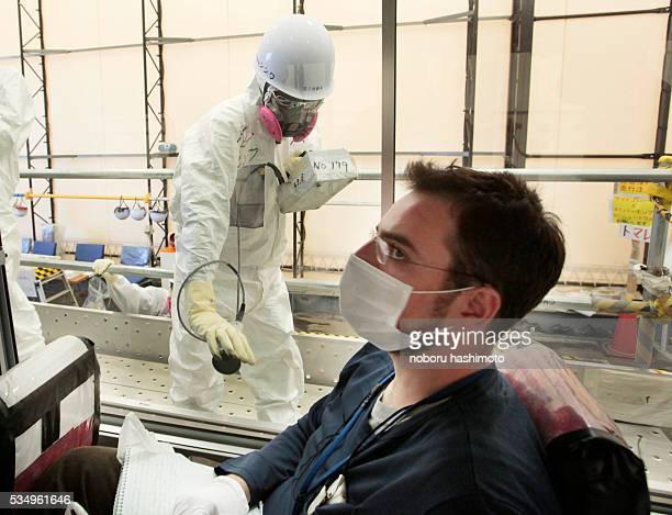 June122013/Noboru Hashimoto/FukushimaJapan Members of media were alloowed into the Fukushima daiichinuclear power plant Reporters recieve an...