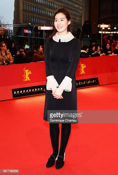 Jung Eun Chae attends the 'Nobody's Daughter Haewon' Premiere during the 63rd Berlinale International Film Festival at Berlinale Palast on February...