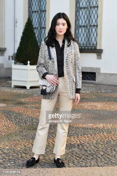 Jung Eun-chae attends the Tod's show at Milan Fashion Week Autumn/Winter 2019/20 on February 22, 2019 in Milan, Italy.