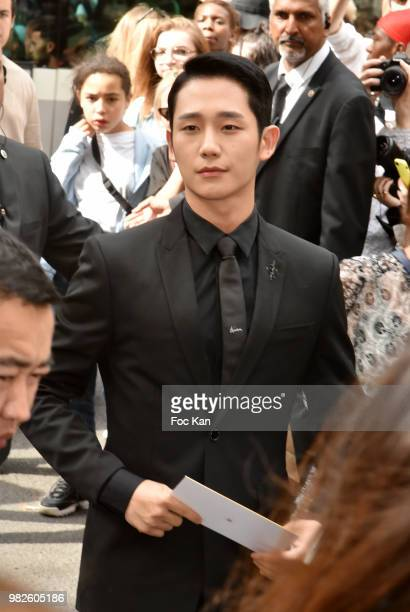 Jung Hae attends the Dior Homme Menswear Spring/Summer 2019 show as part of Paris Fashion Week on June 23 2018 in Paris France