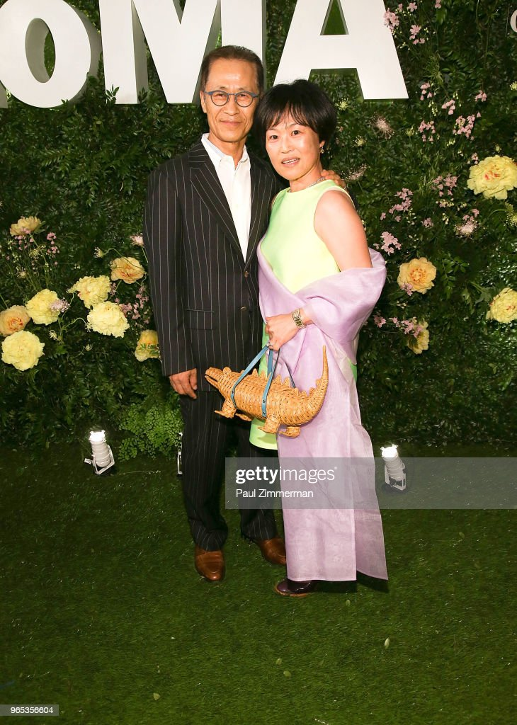 Jung Hann Chang and Christine Kim attend the 2018 MoMA Party In The Garden at Museum of Modern Art on May 31, 2018 in New York City.
