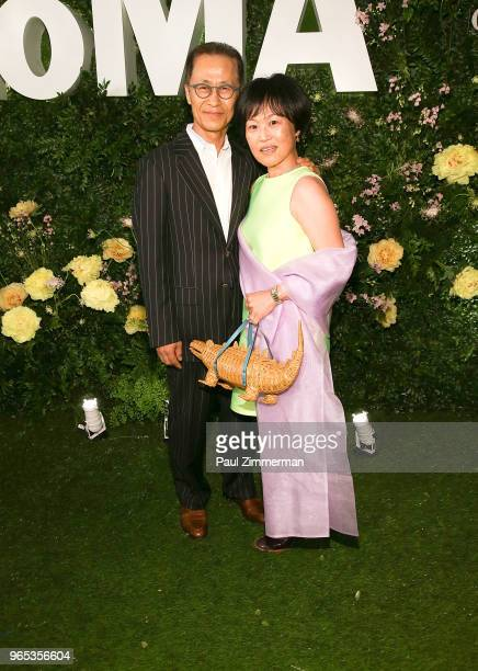 Jung Hann Chang and Christine Kim attend the 2018 MoMA Party In The Garden at Museum of Modern Art on May 31 2018 in New York City