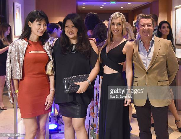Jung Hwa Shin Susan Shin and Isabelle Dominguez De Haro and Tony Dominguez de Haro attend Underwater Dreams To Life In Color Art Exhibit Featuring...