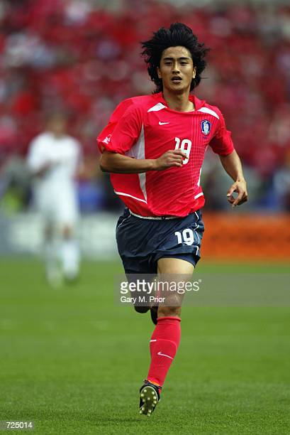 Jung Hwan Ahn of South Korea in action during the Group D match against the United States of America of the World Cup Group Stage played at the Daegu...