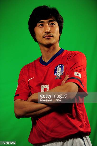 Jung Hwan Ahn of South Korea poses during the official FIFA World Cup 2010 portrait session on June 6 2010 in Rustenburg South Africa