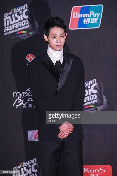 Jung Joon Young walks red carpet of 2014 MAMA Awards Ceremony on December 3 2014 in Hong Kong China