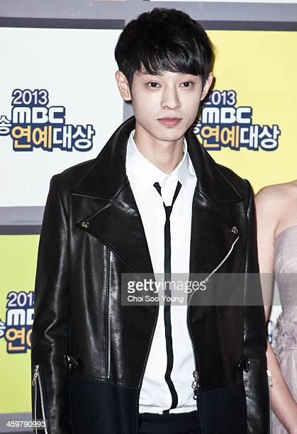 Jung JoonYoung arrives at the red carpet of the 2013 MBC entertainment awards at the MBC Open hall on December 29 2013 in Seoul South Korea