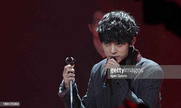 Jung JoonYoung performs onstage during the SBS MTV 'The Show All About Kpop' at SBS Prism Tower on October 29 2013 in Seoul South Korea