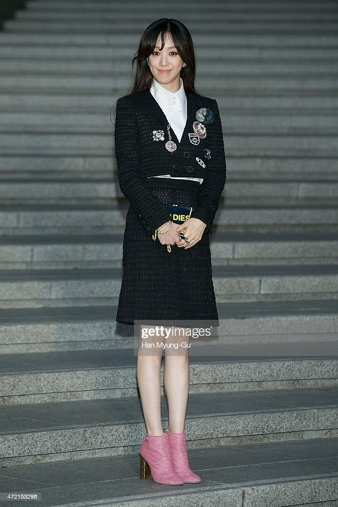 Jung Ryeo-Won (Chung Reo-Won, Chung Ryo-Won) attends the Chanel 2015/16 Cruise Collection show on May 4, 2015 in Seoul, South Korea.