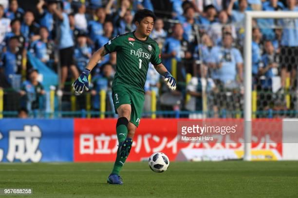 Jung Sung Ryong of Kawasaki Frontale in action during the JLeague J1 match between Kashiwa Reysol and Kawasaki Frontale at Sankyo Frontier Kashiwa...