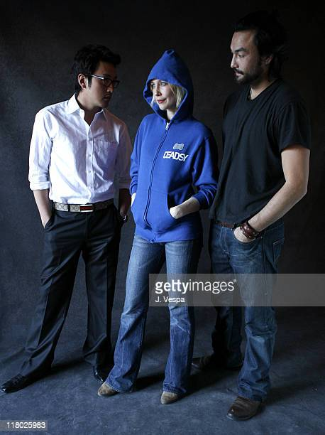 "Jung Woo Ha, Vera Farmiga and David McInnis during 2007 Sundance Film Festival - ""Never Forever"" Portraits at Delta Sky Lodge in Park City, Utah,..."