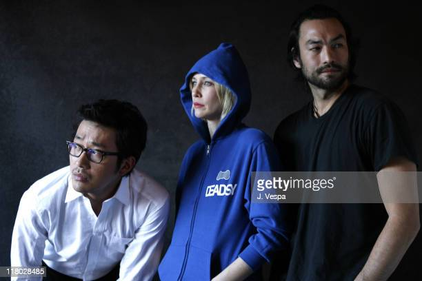 "Jung Woo Ha, Vera Farmiga and David McInnis during 2007 Sundance Film Festival - ""Never Forever"" Portraits at Delta Sky Lodge in Park City, Utah,..."