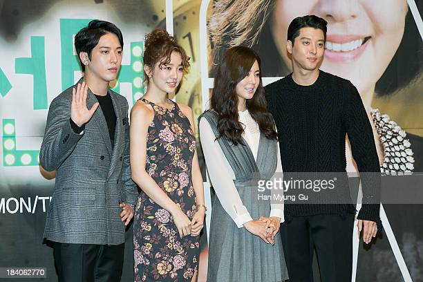 "Jung Yong-Hwa of South Korean boy band CNBLUE, actors Yoon Eun-Hye, Han Chae-A and Lee Dong-Gun attend KBS Drama ""The Choice Of The Future"" Press..."