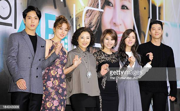 Jung YongHwa Yoon EunHye Ko DuSim Choi MyungGil Han ChaeA and Lee DongGun attend the KBS Drama 'Marry Him If You Dare' Press Conference at Convention...
