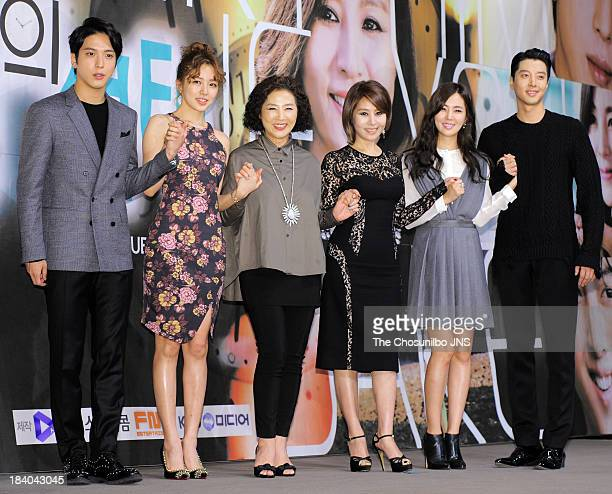Jung Yong-Hwa, Yoon Eun-Hye, Ko Du-Sim, Choi Myung-Gil, Han Chae-A and Lee Dong-Gun attend the KBS Drama 'Marry Him If You Dare' Press Conference at...