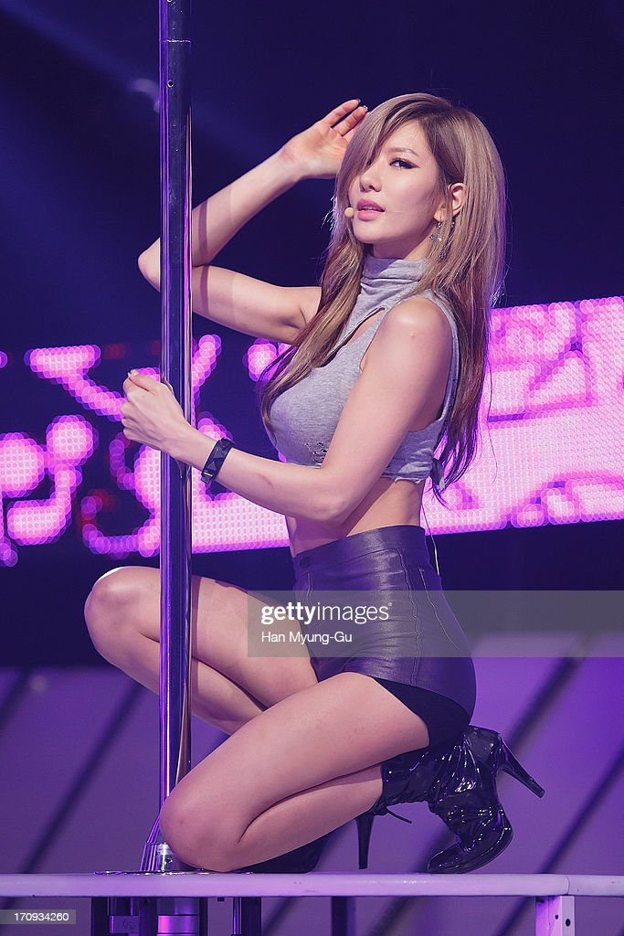 Jung-A of South Korean girl group After School performs onstage during the Mnet 'M CountDown' at CJ E&M Center on June 20, 2013 in Seoul, South Korea.