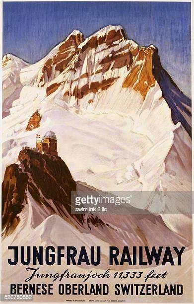 Jungfrau Railway Poster by E Hovel