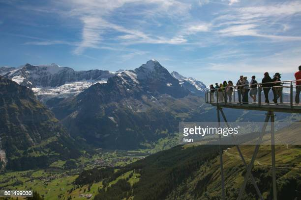 jungfrau view point harder kulm - swaziland stock photos and pictures